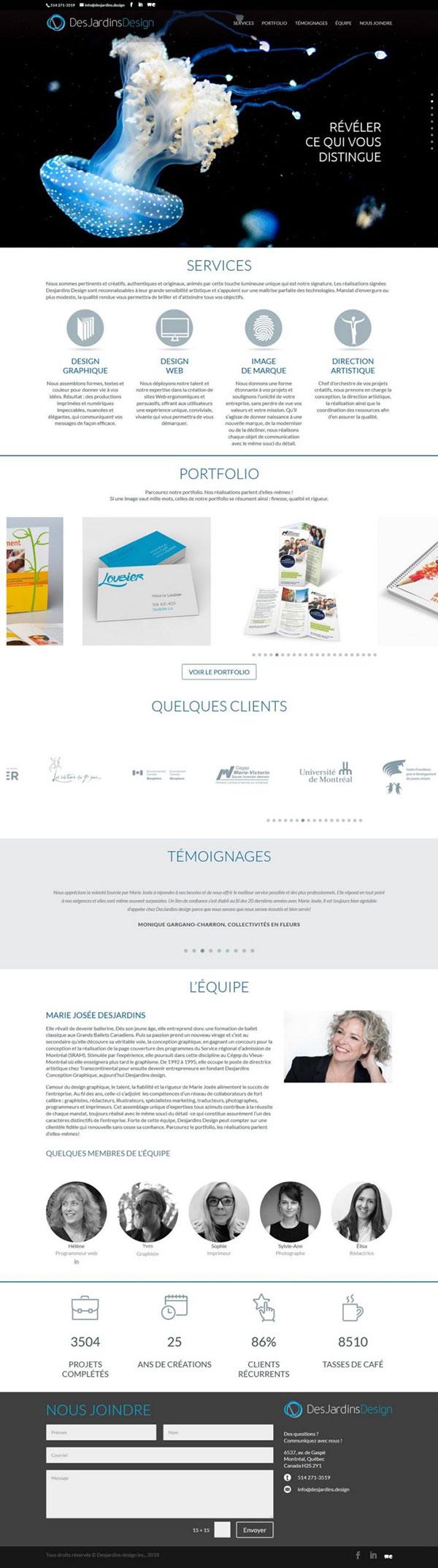 Site Web Desjardins-Design 2019 - Progexia Solutions Web